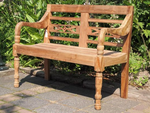 Teak station gardenbench 2-seater - Picture 0