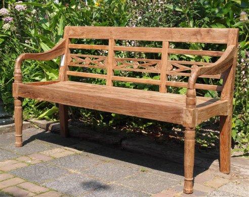 Teak station gardenbench 3-seater - Picture 0