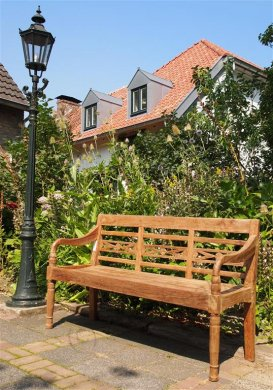 Teak station gardenbench 3-seater - Picture 1