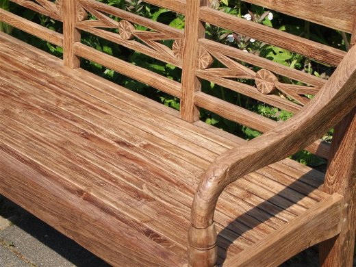 Teak station gardenbench 3-seater - Picture 4