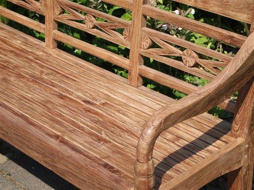 Teak station gardenbench 3-seater - Picture 4