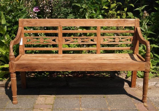 Teak station gardenbench 3-seater - Picture 2