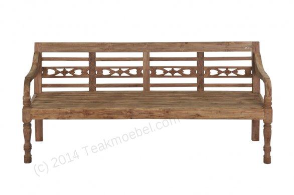 Teak station gardenbench 4-seater - Picture 5