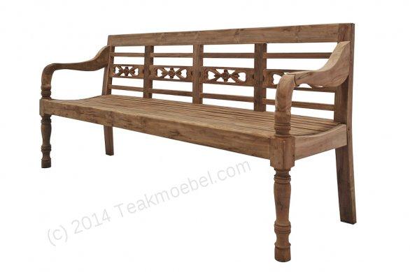 Teak station gardenbench 4-seater - Picture 6