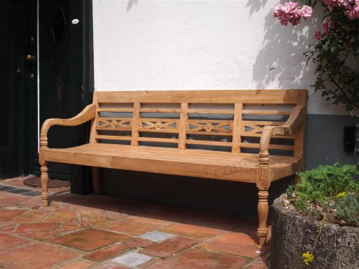 Teak station gardenbench 4-seater - Picture 1