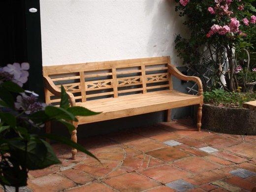Teak station gardenbench 4-seater - Picture 4