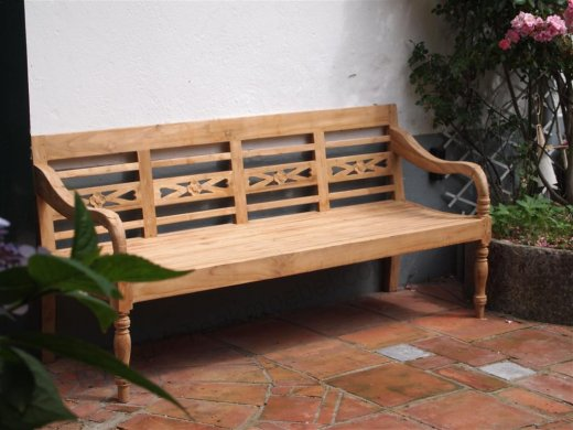 Teak station gardenbench 4-seater - Picture 0