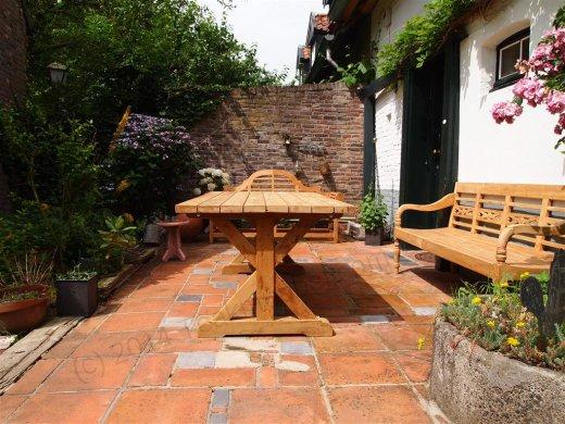 Teak station gardenbench 4-seater - Picture 3