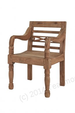 Teak station gardenchair 1-seater - Picture 6