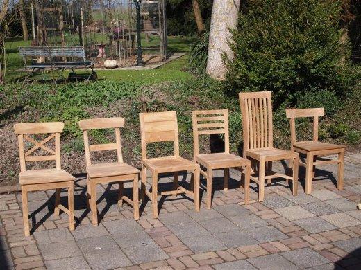 Teak chair Mariotto cross - Picture 1