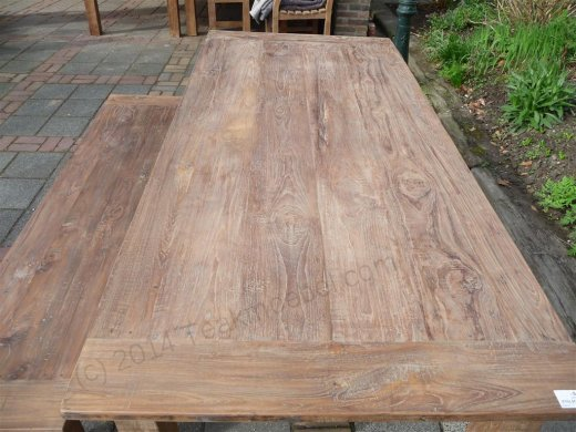 Teak table 220 x 100 cm reclaimed - Picture 6