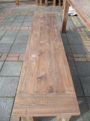 Teak table 220 x 100 cm reclaimed - Picture 7