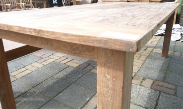 Teak table 220 x 100 cm reclaimed - Picture 8