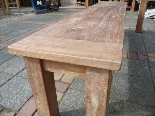 Teak table 220 x 100 cm reclaimed - Picture 5