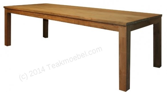 Teak table 220 x 100 cm - Picture 0