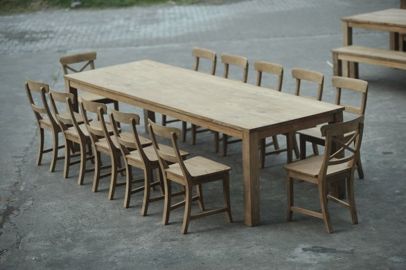 Teak table 300 x 100 cm - Picture 0