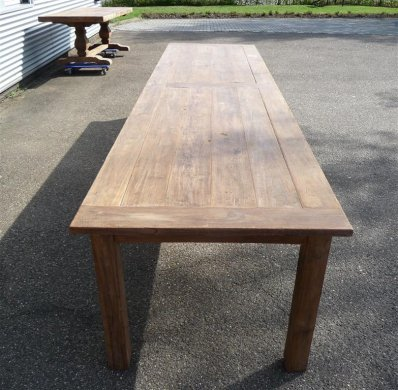 Teak table 400 x 100 cm reclaimed - Picture 2