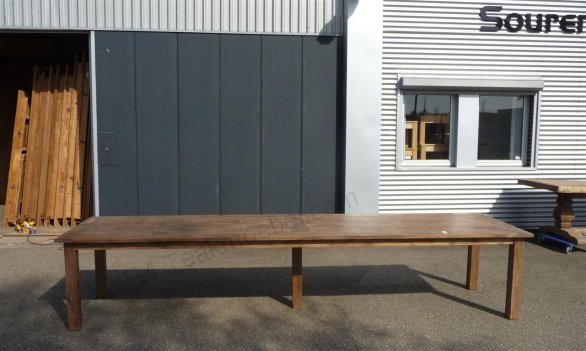 Teak table 400 x 100 cm reclaimed - Picture 1