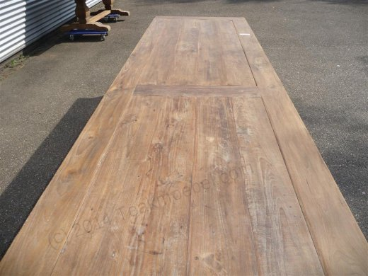 Teak table 400 x 100 cm reclaimed - Picture 4