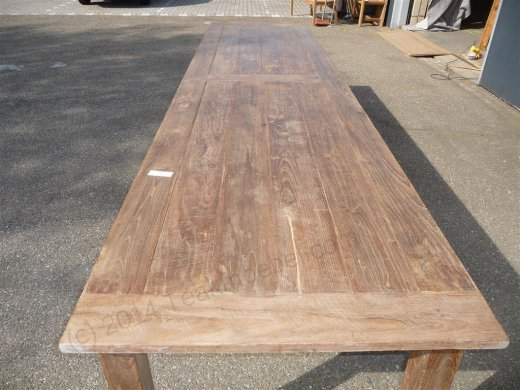 Teak table 400 x 100 cm reclaimed - Picture 3