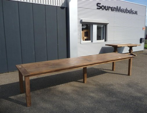 Teak table 400 x 100 cm reclaimed - Picture 0
