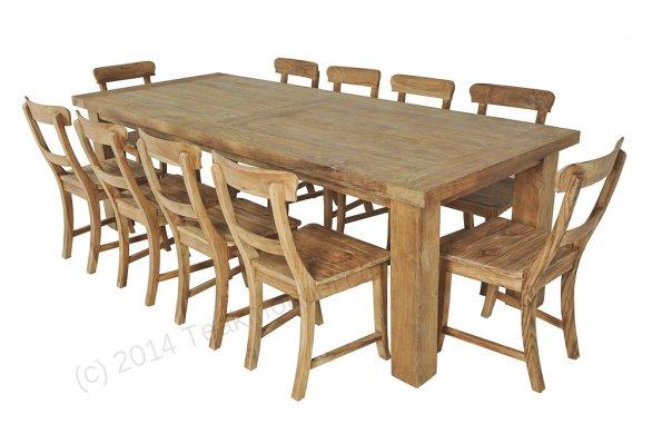Teak table London 200x100cm - Picture 1