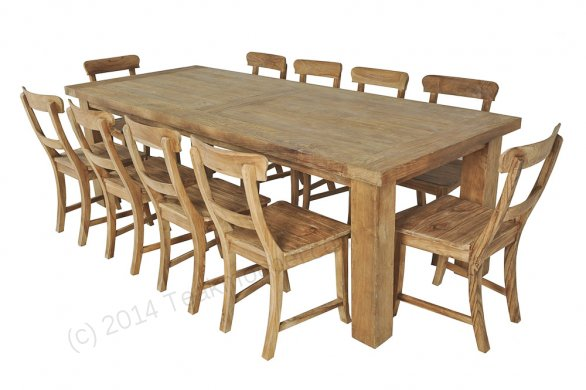 Teak table London 350x100cm - Picture 2