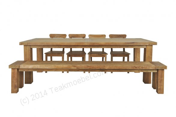 Teak table London 350x100cm - Picture 1
