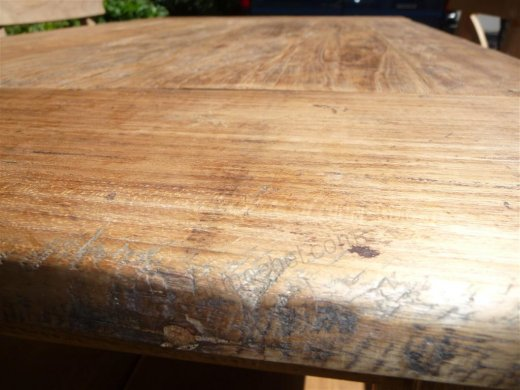 Teak table 120 x 80 cm  reclaimed - Picture 6