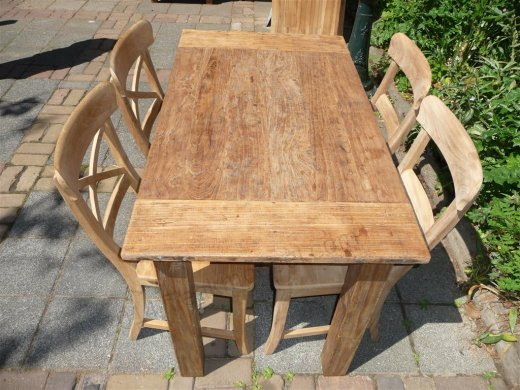 Teak table 120 x 80 cm  reclaimed - Picture 9
