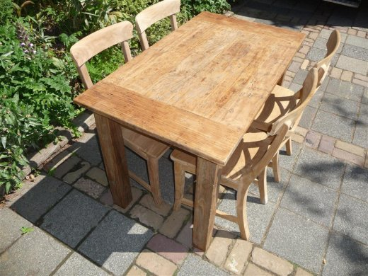 Teak table 120 x 80 cm  reclaimed - Picture 11