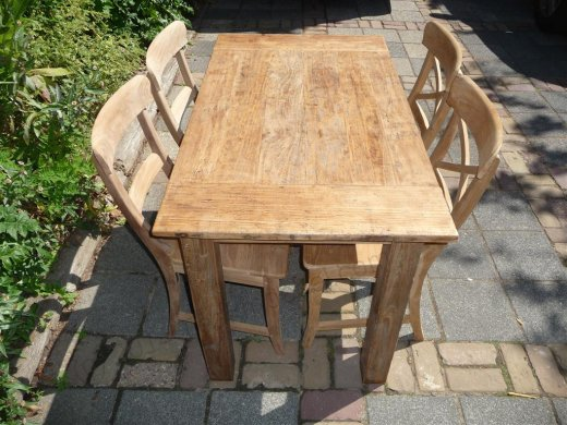 Teak table 120 x 80 cm  reclaimed - Picture 12