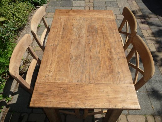 Teak table 120 x 80 cm  reclaimed - Picture 0