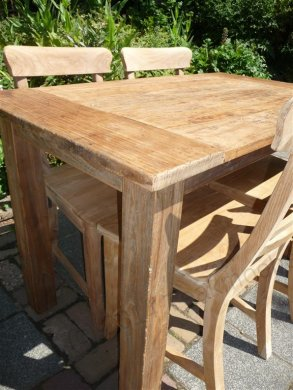 Teak table 120 x 80 cm  reclaimed - Picture 7