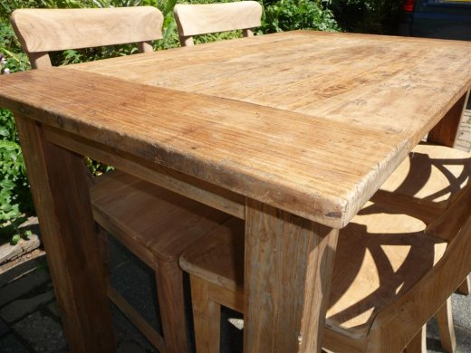 Teak table 120 x 80 cm  reclaimed - Picture 3