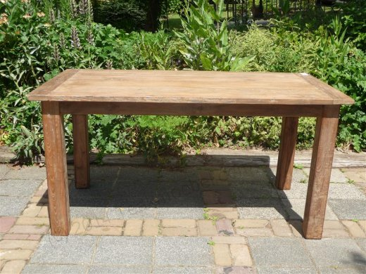 Teak table 140 x 90 cm reclaimed - Picture 9
