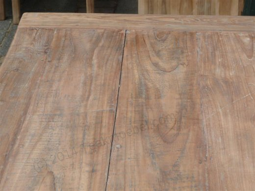Teak table 140 x 90 cm reclaimed - Picture 10