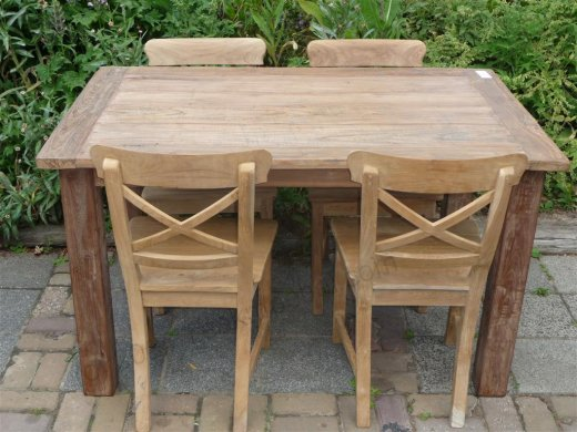 Teak table 140 x 90 cm reclaimed - Picture 2