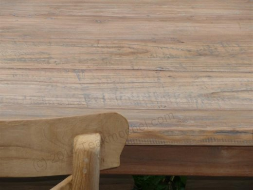 Teak table 140 x 90 cm reclaimed - Picture 1