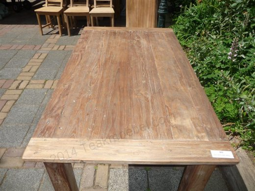 Teak table 140 x 90 cm reclaimed - Picture 0
