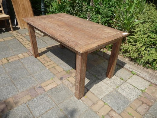 Teak table 140 x 90 cm reclaimed - Picture 5