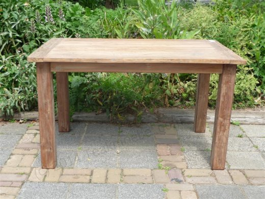 Teak table 140 x 90 cm reclaimed - Picture 7