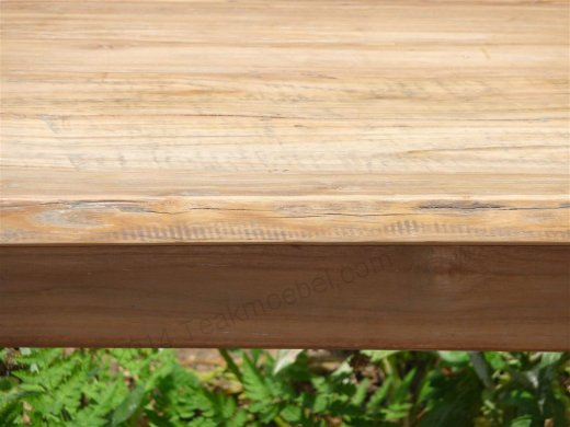 Teak table 140 x 90 cm reclaimed - Picture 8