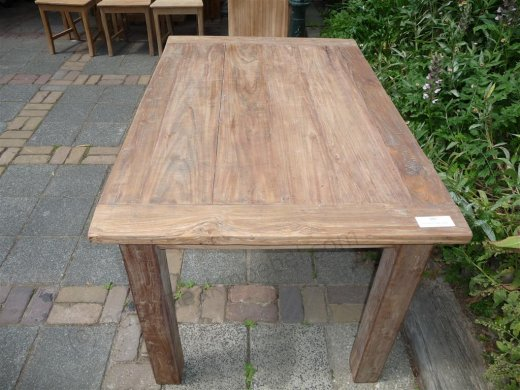 Teak table 140 x 90 cm reclaimed - Picture 3