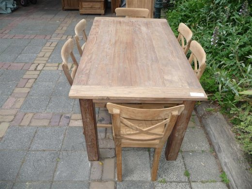 Teak table 160 x 90 cm reclaimed - Picture 8