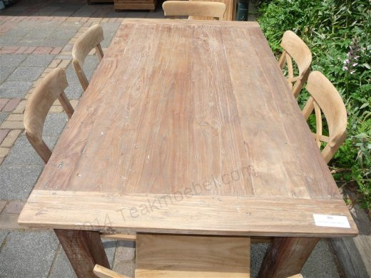 Teak table 160 x 90 cm reclaimed - Picture 0