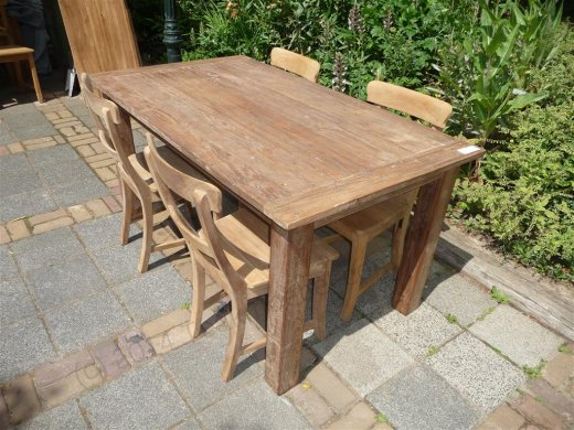 Teak table 160 x 90 cm reclaimed - Picture 9