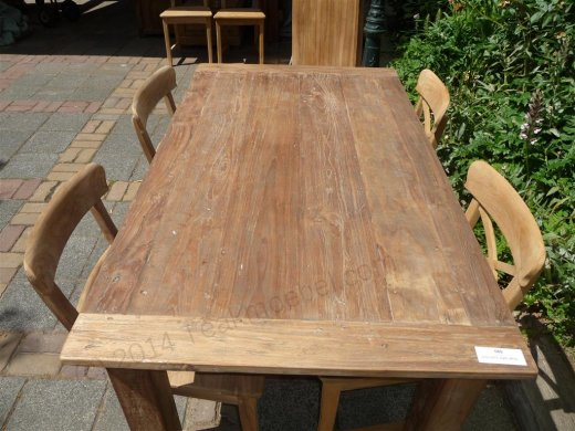 Teak table 160 x 90 cm reclaimed - Picture 5