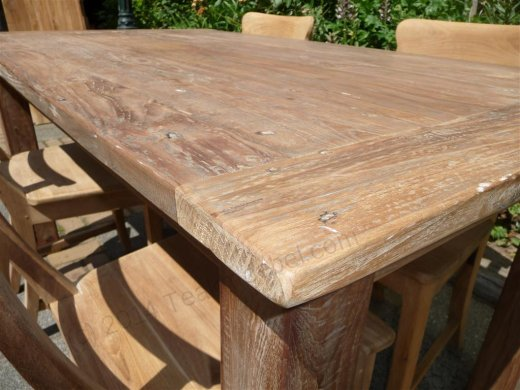 Teak table 160 x 90 cm reclaimed - Picture 1