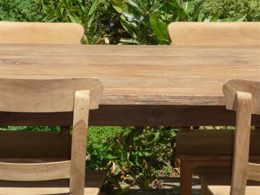 Teak table 160 x 90 cm reclaimed - Picture 2